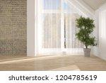 white empty room. scandinavian... | Shutterstock . vector #1204785619