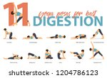 set of yoga postures female... | Shutterstock .eps vector #1204786123