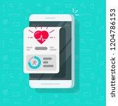 health or fitness tracker app...   Shutterstock . vector #1204786153