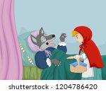 cartoon little red riding hood... | Shutterstock .eps vector #1204786420