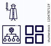 simple set of 3 icons related... | Shutterstock .eps vector #1204787119