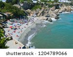 aerial view of the beach  nerja ... | Shutterstock . vector #1204789066