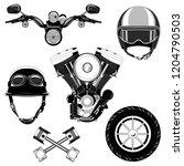 set of vector images motorcycle ... | Shutterstock .eps vector #1204790503