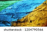 colorful wooden texture on old... | Shutterstock . vector #1204790566