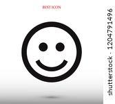 smile icon  stock vector... | Shutterstock .eps vector #1204791496
