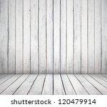 High Resolution White Wooden...