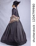 Victorian Woman In Black...