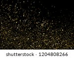 gold glitter texture isolated... | Shutterstock . vector #1204808266