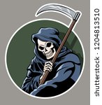 death with scythe. halloween... | Shutterstock .eps vector #1204813510