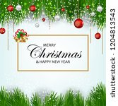 christmas decorations  complete ... | Shutterstock .eps vector #1204813543