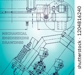 blueprint  scheme  plan  sketch.... | Shutterstock .eps vector #1204816240