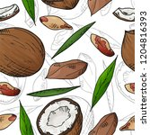 vector seamless pattern with... | Shutterstock .eps vector #1204816393