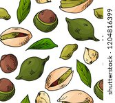 vector seamless pattern with... | Shutterstock .eps vector #1204816399