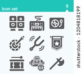 contains such icons as pennant  ... | Shutterstock .eps vector #1204818199