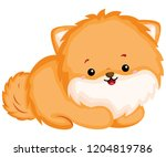 a happy and adorable corgi pure ... | Shutterstock .eps vector #1204819786