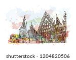 building view with landmark of... | Shutterstock .eps vector #1204820506