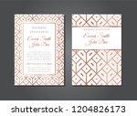 elegant rose gold wedding... | Shutterstock .eps vector #1204826173