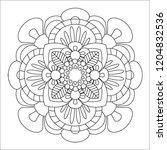 flower mandala illustration.... | Shutterstock . vector #1204832536