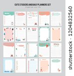 set of planners and to do list... | Shutterstock .eps vector #1204832560