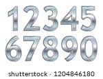 set of metallic numbers.vector... | Shutterstock .eps vector #1204846180
