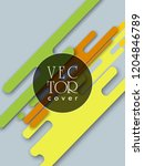 covers templates set with... | Shutterstock .eps vector #1204846789