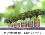 finance sustainable development ... | Shutterstock . vector #1204847449