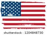 grunge american flag.vector... | Shutterstock .eps vector #1204848730