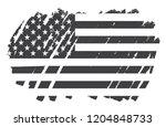 grunge american flag.vector...   Shutterstock .eps vector #1204848733