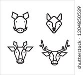 animal icon vector | Shutterstock .eps vector #1204850539