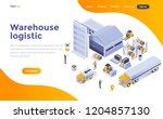 modern flat design isometric... | Shutterstock .eps vector #1204857130