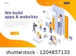 modern flat design isometric... | Shutterstock .eps vector #1204857133