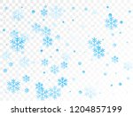 crystal snowflake and circle... | Shutterstock .eps vector #1204857199