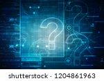 2d illustration question mark  | Shutterstock . vector #1204861963