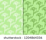 seamless floral pattern with...   Shutterstock .eps vector #1204864336