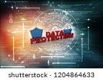 security shield 3d illustration  | Shutterstock . vector #1204864633