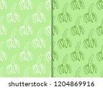 banana seamless pattern fruit | Shutterstock .eps vector #1204869916