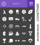 sports icon set. suitable for... | Shutterstock .eps vector #1204870480