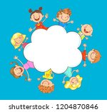 vector illustration of a happy... | Shutterstock .eps vector #1204870846