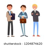 man talking with business... | Shutterstock .eps vector #1204874620