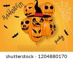halloween greeting template.... | Shutterstock .eps vector #1204880170