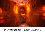 virtual portal. scientific... | Shutterstock . vector #1204883449