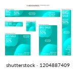 six web banners standard sizes... | Shutterstock .eps vector #1204887409