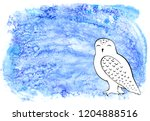 White Snowy Polar Owl On An...