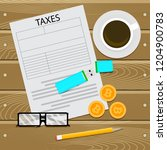 taxes for crypto currency.... | Shutterstock . vector #1204900783