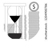 time is money line icon.... | Shutterstock . vector #1204900786