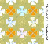 floral seamless pattern for...   Shutterstock .eps vector #1204918789