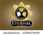 gold shiny badge with couple... | Shutterstock .eps vector #1204925449