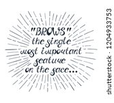 """illustration with quote """"""""brows""""...   Shutterstock .eps vector #1204933753"""