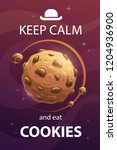 keep calm and eat cookies.... | Shutterstock .eps vector #1204936900
