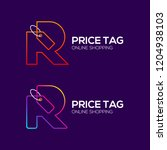 letter r logotype colorful line ... | Shutterstock .eps vector #1204938103